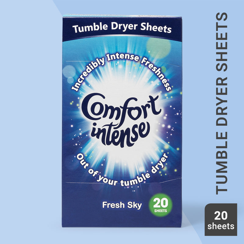 Comfort Intense Fresh Sky Tumble Dryer Sheets 20 Sheets