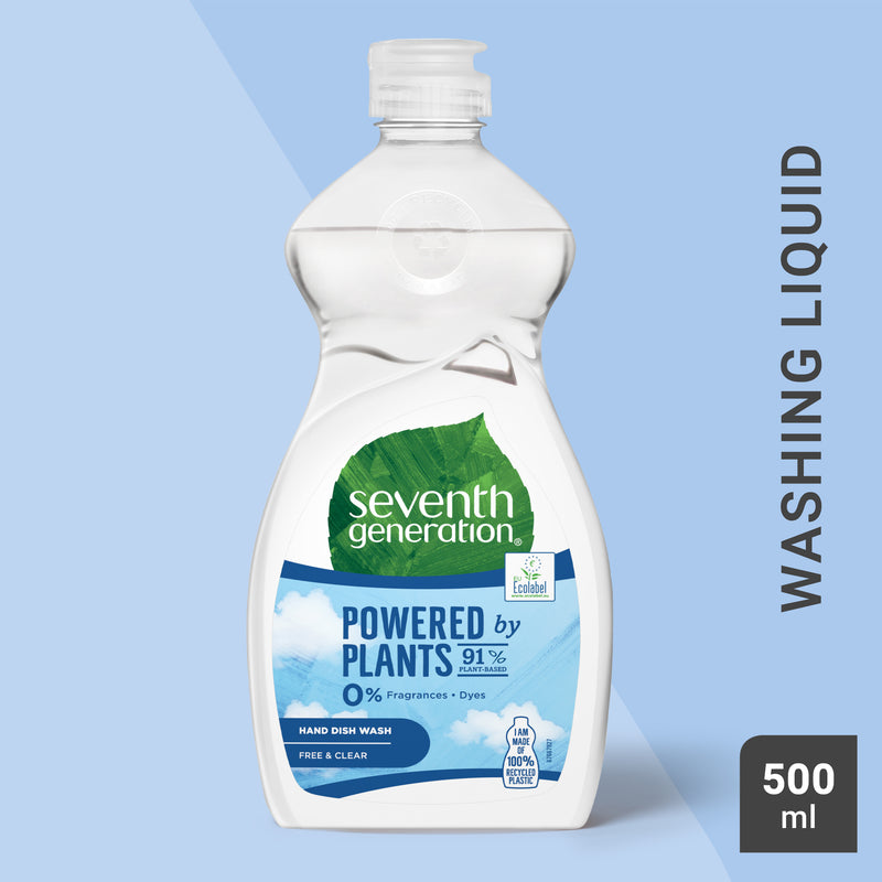 Seventh Generation Free & Clear Washing Up Liquid 500ml