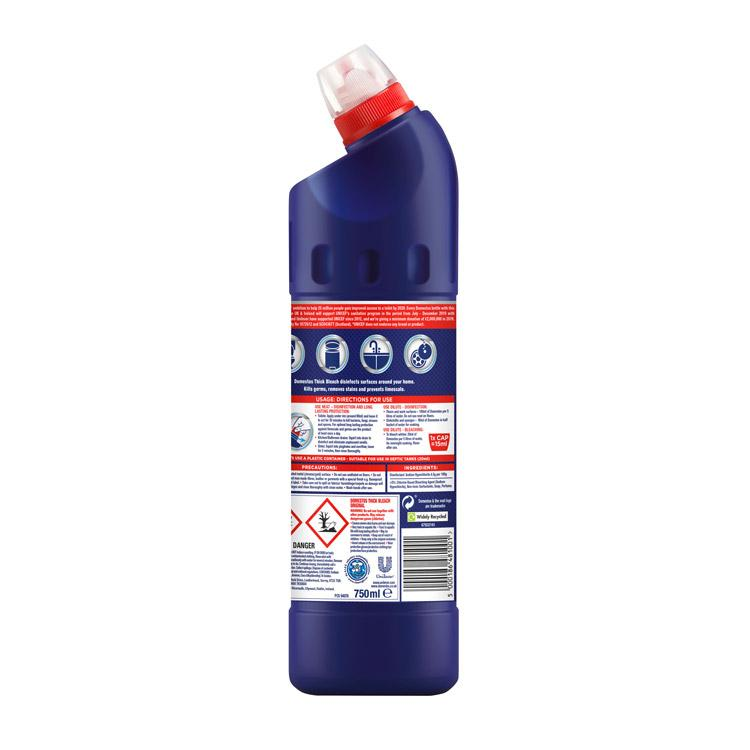Domestos Original Blue Thick Bleach 750ml