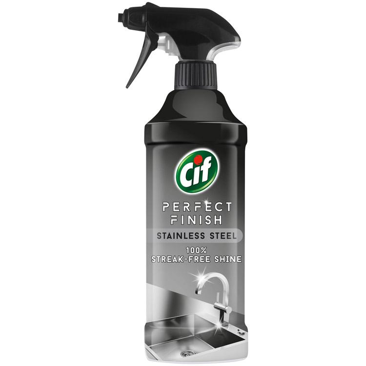 Cif Perfect Finish Stainless Steel Cleaner Spray 435ml