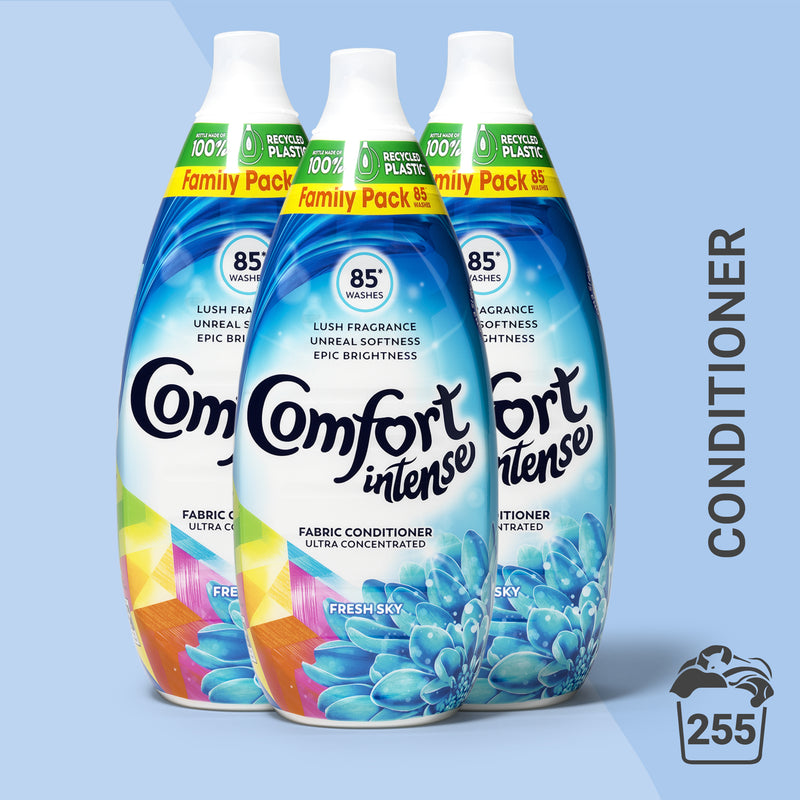 Comfort Intense Fresh Sky Laundry Conditioner Liquid 85 Wash, Multi-Buy