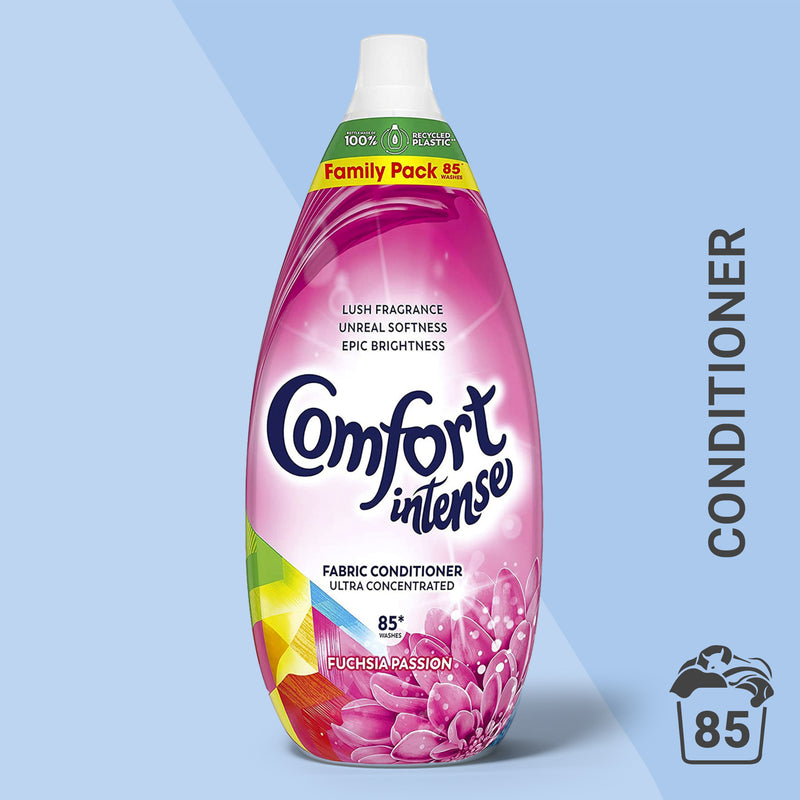 Comfort Intense Fuchsia Passion Laundry Conditioner Liquid 85 Wash, Multi-Buy