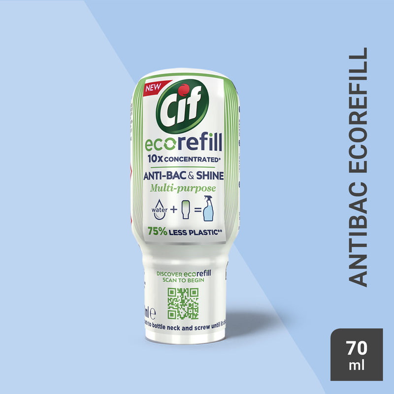Cif Antibac & Shine eco-refill Multipurpose Disinfectant Cleaner 70ml Multi-Buy