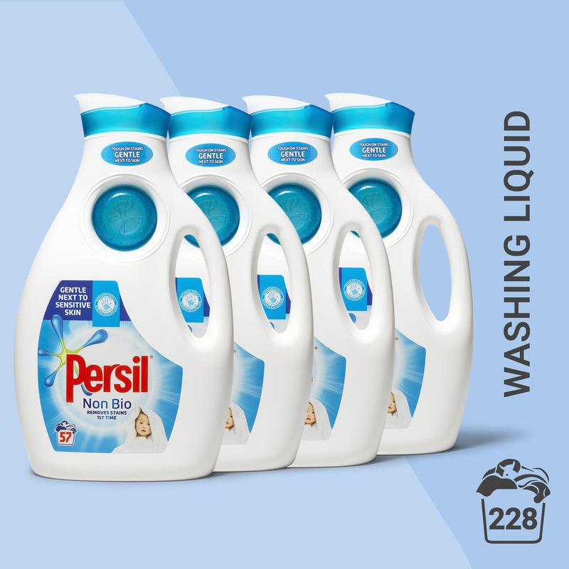Persil Non-Bio Washing Liquid 57 wash, Multi-Buy