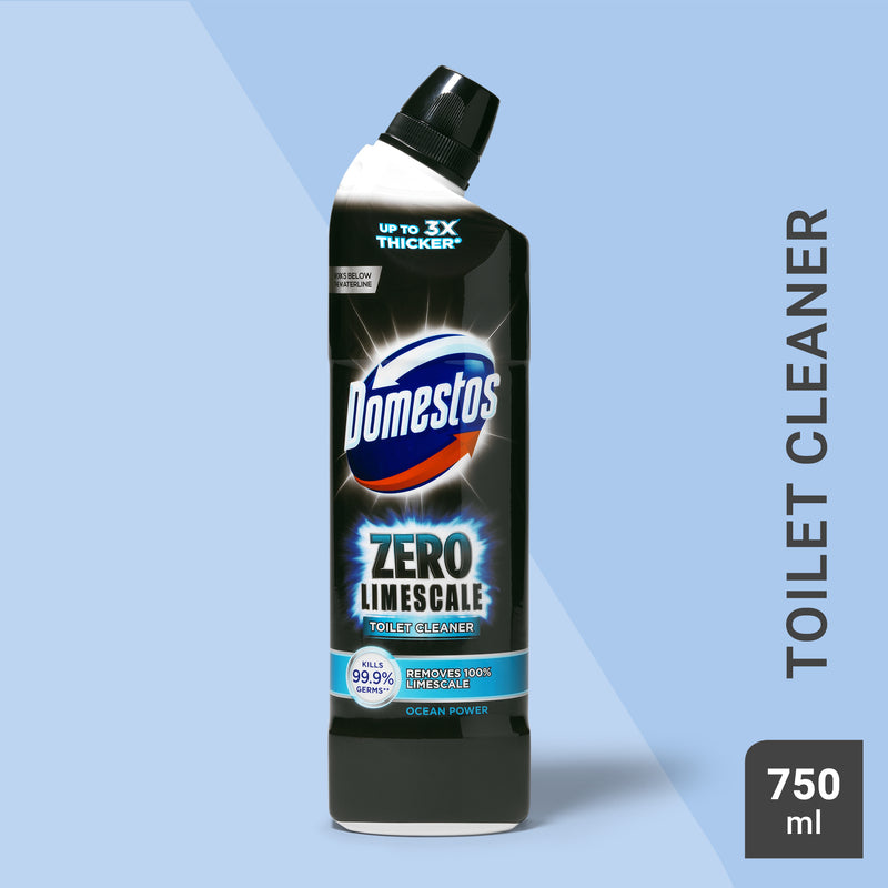 Domestos Zero Limescale Ocean Toilet Cleaner 750ml