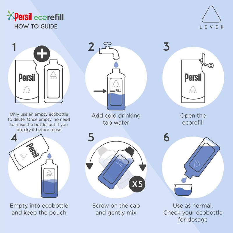 Persil Bio Ecorefill Pouch 44 washes By LEVER Multi-Buy