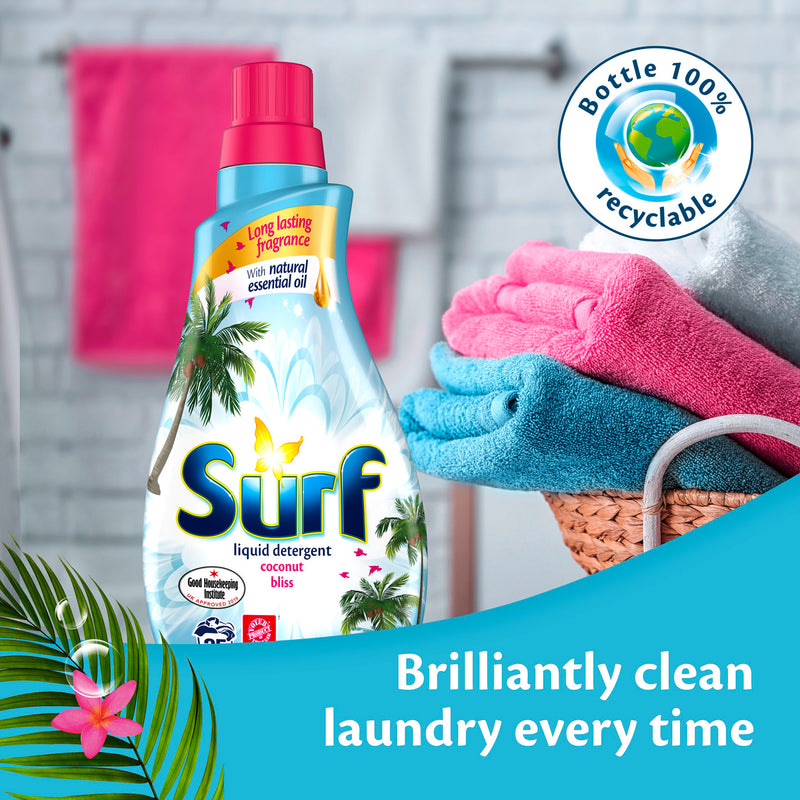 Surf Coconut Bliss Liquid Washing Detergent 25 Washes