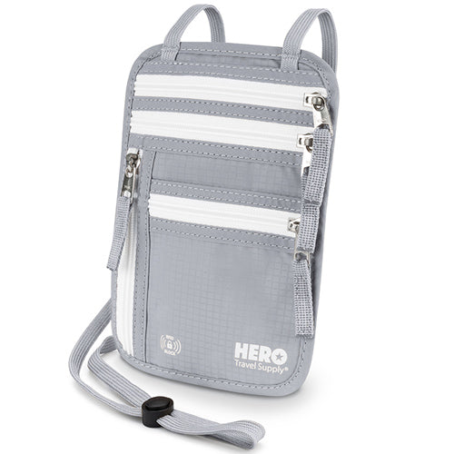 HERO Neck Wallet - RFID Blocking Passport Holder