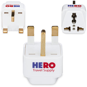 Premium US to UK Power Adapter Plug (Type G, 3 Pack, Grounded)