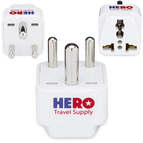 Premium US to India Power Adapter Plug (Type D, 3 Pack)