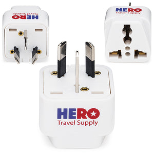Premium US to Australia & NZ Adapter Plug (Type I, 3 Pack, Grounded)