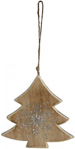 Hanging Tree Timber/Silver Decoration