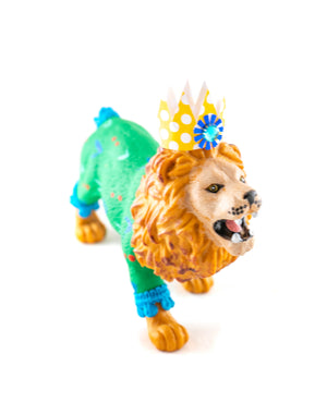 "Jumbo Party Animal  ""Alex"" the Lion painted carnival, circus, and birthday decor"