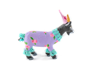 Jumbo Goat- Painted animals, cake toppers, and birthday decor