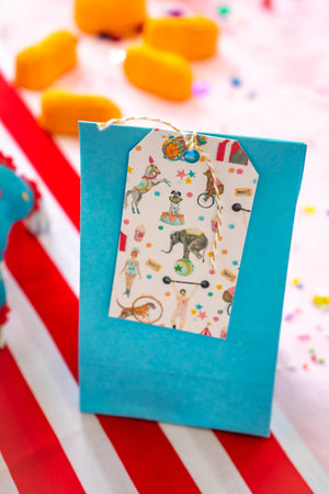 It's A Circus White Favor Tag, Gift Tags