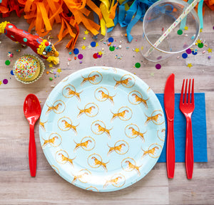 "Trick Tiger Party Plates- 9"" Wide Set of 8"