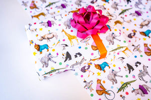 Animal Parade Wrapping Paper