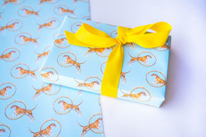 Trick Tiger Aqua Wrapping Paper