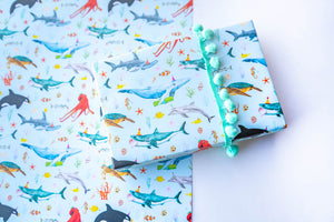 Ocean Parade Blue Wrapping Paper