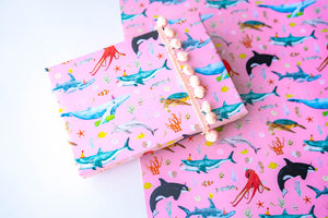Ocean Parade Pink Wrapping Paper
