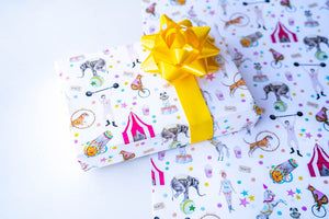It's a Circus White Wrapping Paper