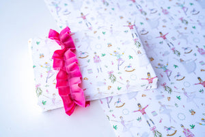 Nutcracker White Wrapping Paper