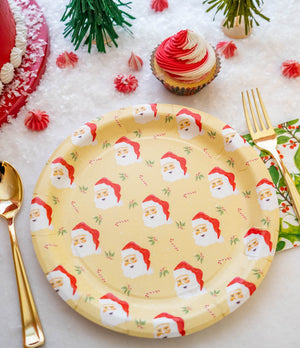 "Santa Party Plates - 9"" Wide Set of 8"