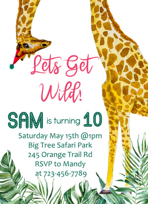 Safari Birthday Invitation