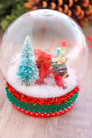 Bear Snow Globe- cake topper, Holiday decor