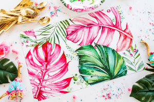 Tropical Leaves Paper Placemat