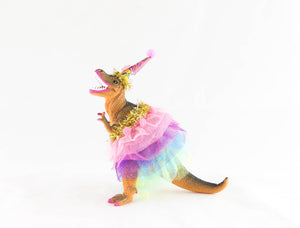 Custom Party Trex with Tutu - painted birthday decor