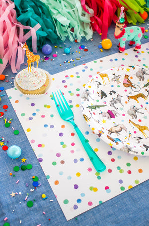 Polka Dot Paper Placemat
