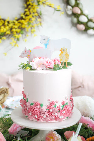 Spring Animal Cake Topper Set of 6