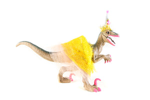 Custom Party Raptor with Tutu- cake topper, party decor