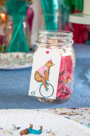 Bicycle Bear Favor Tag Set, Gift Tags