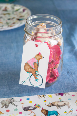 Round Ocean Animals Favor Tag Set, Gift Tags