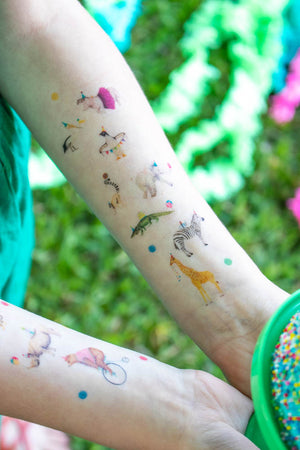 Party Animal Temporary Tattoos- Favors, party decor
