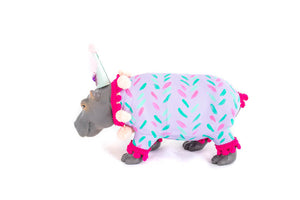 "Jumbo Party Animal ""Heidi"" the Hippo painted carnival, circus, and birthday decor"