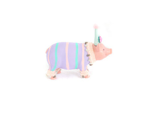 Jumbo Party Animal Pig- Painted animals, cake toppers, and birthday decor