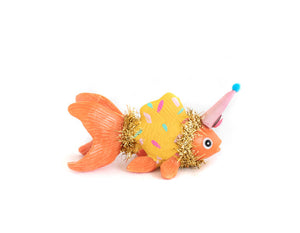 "Jumbo Party Animal ""Linda"" The Goldfish- cake topper and birthday decor"
