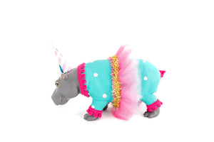 "Jumbo Party Animal ""Hailey"" the Hippo painted carnival, circus, and birthday decor"