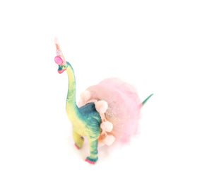 Custom Party Brontosaurus with Tutu - painted birthday decor