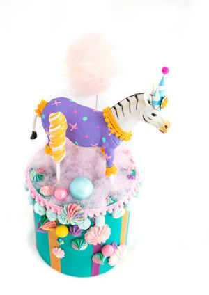 Zebra Party Podium- centerpiece, party decor, cake topper
