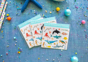 Ocean Animal Temporary Tattoos- Favors, party decor