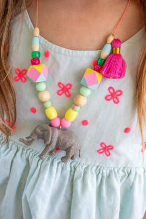 Painted Party Dinosaur Necklace Kit- DIY Kit