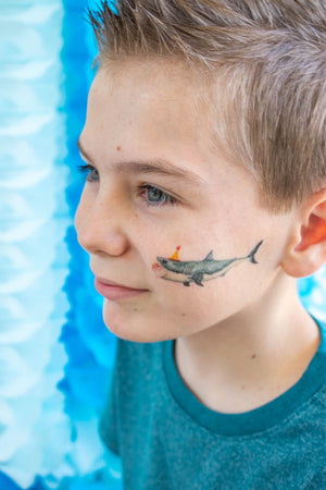 Shark Party Animal Temporary Tattoo- Favors, party decor