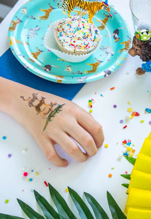 Animal Stack Temporary Tattoo- Favors, party decor