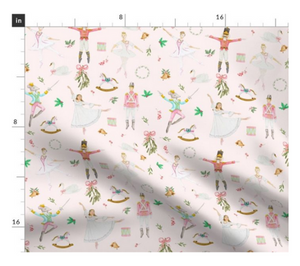Pink Nutcracker Ballet Fabric
