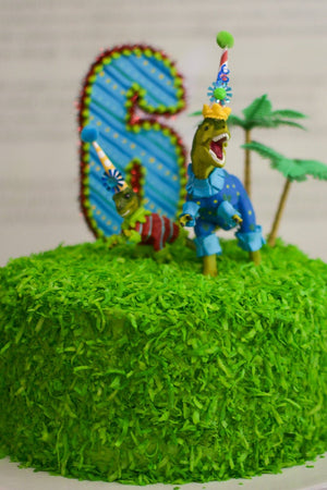 "Party Dinosaur ""Az""- cake topper, birthday party and room decor"