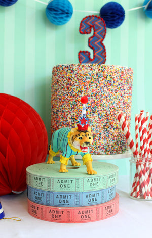 Party Animal Panther- painted carnival, circus, and birthday decor, cake topper